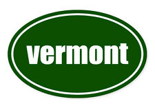 "Vermont State Green Oval car window bumper sticker decal 5"" x 3"""