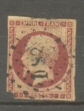 "FRANCE STAMP TIMBRE N°18a ""NAPOLEON III 1F CARMIN FONCE 1853"" OBLITERE A VOIR"
