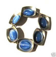 Modernist Armband von Jorgen Jensen Zinn Denmark Pewter blau-violette Steine