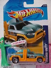 CASE J/L 2012 i Hot Wheels DIESEL DUTY Truck #133∞Teal GREEN∞Water Dept