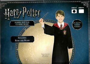 Harry potter Costume classic Robe & Wand size 6+ Brand new Au seller