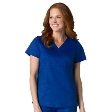 Maevn Scrubs EON Women's Medical Back Mesh Panel Mock Wrap Y Neck Top 1748
