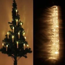 Kabellose LED Weihnachtskerzen 50X Lichterkette Kerzen Christbaumkerzen Weiß