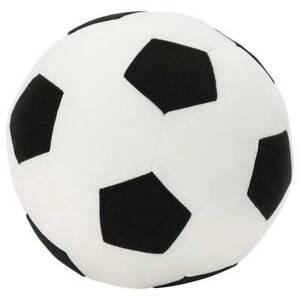 IKEA SPARKA Stoffball weicher Stoff Fußball Ø20cm Stoffspielzeug weiß / schwarz