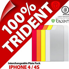 Trident Apollo Interchangaeble Plaque Paquet pour Apple iPhone 4 4S Coque Rouge,