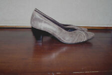 Ara Germany Brown Gold Leather Nubuck Women Pump Shoes Size:5 USA37,5 Heels 2,5""