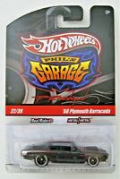 Hot Wheels 2010 PHIL'S GARAGE Black '68 Plymouth HEMI Barracuda - SIGNED  /  MOC