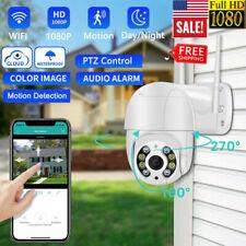 8 LED 1080P WIFI IP Camera Wireless Outdoor CCTV HD PTZ Smart Home Security IR