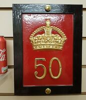 RED TELEPHONE BOX HOUSE PLAQUE - CAST OF ORIGINAL CROWN K6, BOOTH, KIOSK