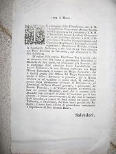 U77-LOMBARDIA AUSTRIACA 1774 SULLE MONACHE