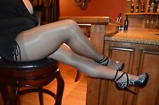 Consay Favourite Gloss Shine Pantyhose Beige Taupe Sz3=MED (pics=offblack)