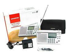 Sangean ATS-405 Digital SW/MW/FM Stereo Receiver w/110V AC+Soft case+Ear-phone