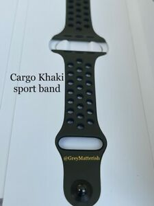 100% Genuine NIKE 42/44mm *CARGO KHAKI/BLACK* Sport band Apple Watch MRHP2AM/A