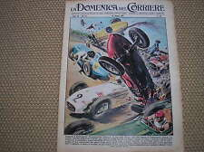 INDIANAPOLIS JERRY UNSER PAT O' CONNOR VOITURE CRASH COVER 1958 ITALIAN MAGAZINE