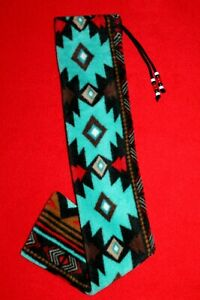 "Native American Design Flute Bag by Nazbok, Southwest, LINED Fleece,5"" x 24.5"""