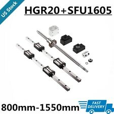 Linear Guide Rail Hgr20 2pcs 800mm1500mmsfu1605 Ballscrew Bkbf12 Set Cnc Us