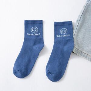 Women Casual Cartoon Socks Spring and Summer Wild Tube Sports Socks Breathable