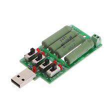 USB Electronic Load Discharge Resistance Resistor 15 Current Tester Adjustable