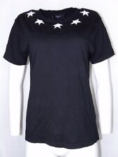 Givenchy Black Medium Tee Shirt White Stars Unisex