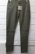 Womens Ladies New Khaki Leather Look Slim Legging/Trousers/Pants (Sizes 6-16)