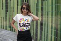 Back To The EIGHTIES Ladies T-Shirt FANCY DRESS 80`s Party Weekend Hen Costume