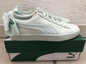 PUMA Basket Bow Blue Flower Mint Rockabilly Low Cut Sneaker Schuhe 37 38,5