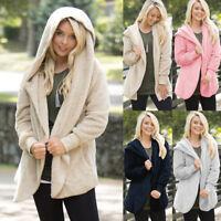 Women's Winter Warm Hooded Coat Jacket Trench Windbreaker Parka Outwear Cardigan