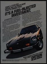 1978 DATSUN 280-Z Sports Car - It's A Fuel Injected Investment - VINTAGE AD