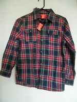 Boys Joe Fresh Green Red Plaid Button Down Long Sleeve Cotton Shirt Size XL 14