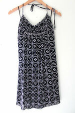 NWT Max Studio Sexy Black White EmpireWaist Babydoll Shirred Halter Dress S $128