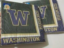 University of Washington Huskie NCAA Football Team Party Napkins  4 Pack