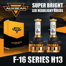 AUXBEAM H13 9008 LED Headlight Bulb High Low Beam Bright 6000K White F-16 Series