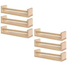 NEW 6x IKEA BEKVAM Magazine Storage Kitchen Spice Rack Natural Wood FREE SHIP