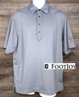 FootJoy FJ Men's Gray Short Sleeve Polyester Blend Golf Polo Casual Shirt Medium