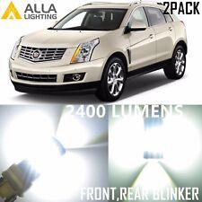 Alla Lighting Turn Signal Light 3757NA White LED Blinker Bulbs for Cadillac SRX