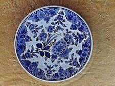 Assiette vintage Delft Blaun-Handpainted made in Holland-décor floral-D 26 cm