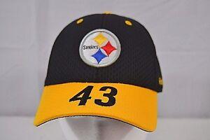 Pittsburgh Steelers Reebok 43# Polamalu Youth Black/Gold Baseball Cap Adjustable