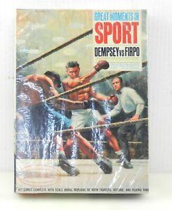 1965 Aurora #861-198 DEMPSEY vs FIRPO Great Moments Sport BOXING MODEL KIT ~T706