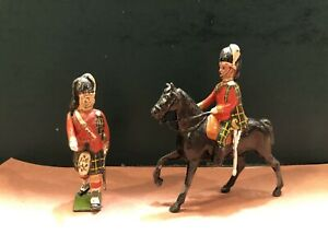 Britains: From Rare Set 437 -  Highland Officers. Pre War c1940
