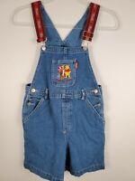 Vintage 90s Girls Denim Overalls Disney Winnie The Pooh Shorts Size 10
