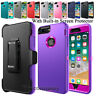 For iPhone 6 6s 7 8 Plus Holster Clip Case Cover With Built in Screen Protector