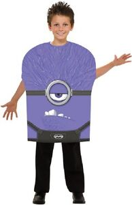 Evil Minion Despicable Me 2 Movie Purple Fancy Dress Up Halloween Child Costume