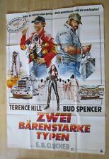 Filmplakat : Zwei bärenstarke Typen ( Bud Spencer , Terence Hill ) DINA0