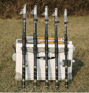 Fiber Telescopic Fishing Rods Short Sea Rods Travel Fishing Rod Spinning Poles