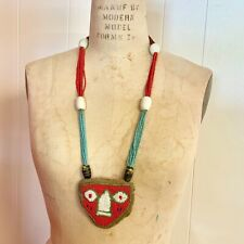 New listing Antique Yoruba African Priest Diviner Shaman Beaded Face Necklace Odigba Ifa