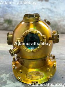 """Nautical 18"""" US Navy Mark V Diving Divers Helmet Steel Scuba Divers Replica DH"""