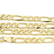 """10k Yellow Gold Figaro Chain Necklace 16""""(new, 13.7g)#2481a"""
