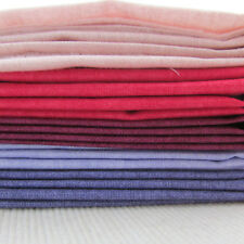 Linen texture Makower 100% cotton quilting fabric 5 fqt bundle PINK/PURPLE