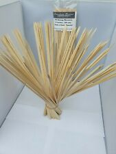 BBQ WOODEN BAMBOO SKEWERS VERY STRONG & LONG (38CM - 15 INCHES)