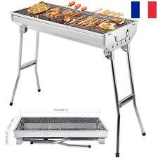Barbecue à Charbon de Bois BBQ Portable Grill de Jardin Acier Camping/Extérieur
